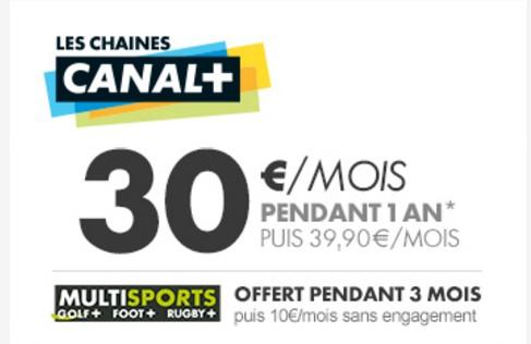 30 euros par mois canal+
