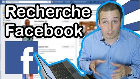recherche posts Facebook