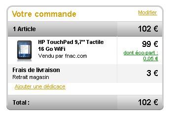 hp touchpad acheté