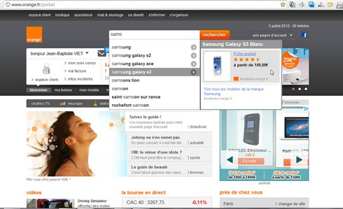orange change nouvelle page d 39 accueil du portail le blog de jeanviet. Black Bedroom Furniture Sets. Home Design Ideas