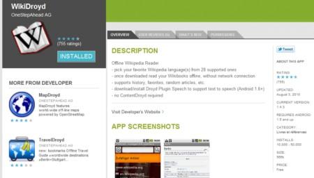Android Market : nouveauté 2