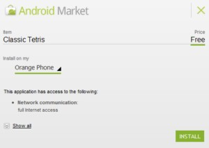 Android Market : nouveauté 3
