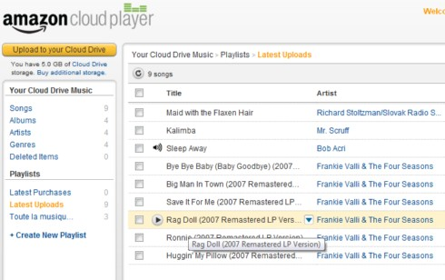 Amazon Cloud Player Web
