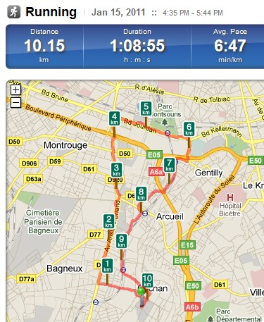 Course avec Run Keeper