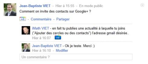 Google plus invitation