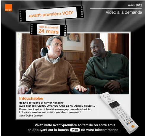 intouchables t l charger ou regarder en streaming vod sur orange. Black Bedroom Furniture Sets. Home Design Ideas