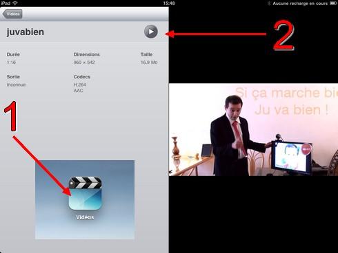 Lecture vidéo sur iPad