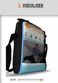 outil 3d de visualisation de sac à dos