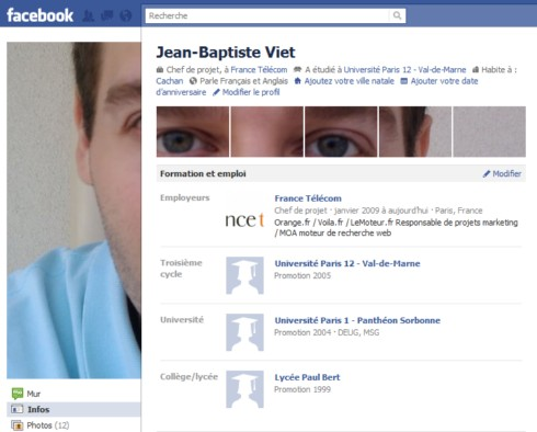 Photos du haut profil facebook original