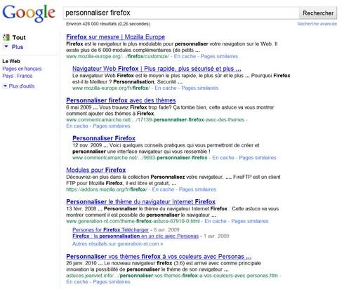 Personnaliser Firefox