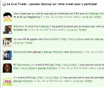 Le Live Twitt de la pixcup