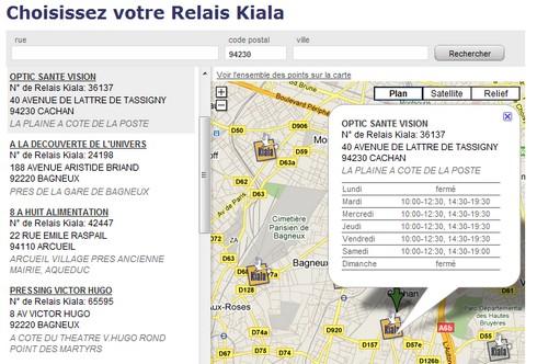 Kiala cityssimo so colissimo achats en ligne livr s partout et tout le temps - Liste point relais amazon ...