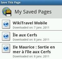 pages web sauvegardés