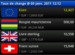 appli taux de change