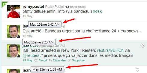 Time Line Twitter DSK